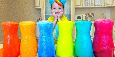 Nastya تفعل رغوة ملونة