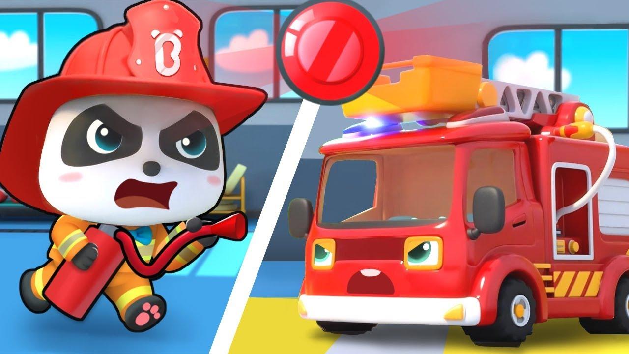 Fire Siren is On – Fire Truck | Police Cartoon | Nursery Rhymes | Kids Songs | Kids Cartoon |BabyBus