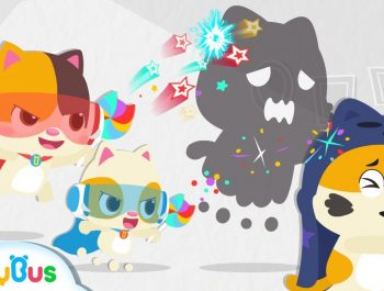 Little Heroes Chased Big Monster Away | Baby Kitten Family | Baby Cartoon | Halloween Song | BabyBus