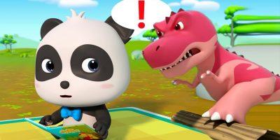 T-Rex Steps out of the Dino Book | Dinosaur World | Learn Dinosaur Names | Monster Truck | BabyBus