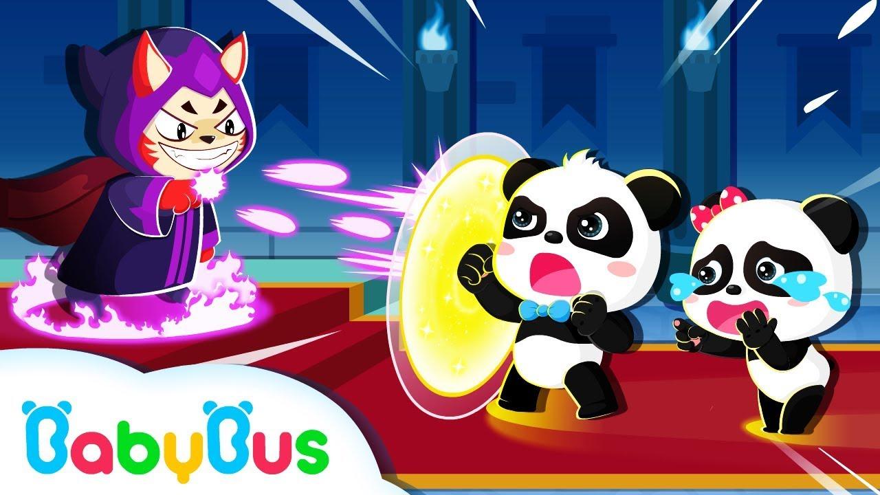 Super Panda Defeats Devil King | Math Kingdom Adventure | Super Rescue Team | BabyBus Cartoon