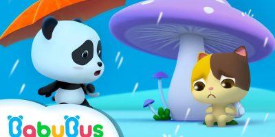 Baby Panda's Umbrella | Baby Kitten Looks for Shelter From Rain | BabyBus Cartoon