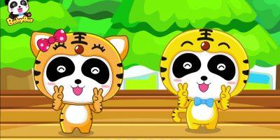 Two Tigers Song + Chinese Kids Nursery Rhyme |Baby Panda| BabyBus