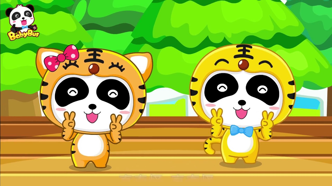 Two Tigers Song + Chinese Kids Nursery Rhyme |Baby Panda| BabyBus
