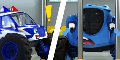 Police Car Arrests Trouble Maker | Monster Truck, Truck Song | Nursery Rhymes | Kids Songs | BabyBus
