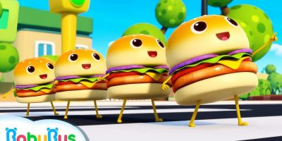 Learn Numbers with Four Little Hamburgers | Color Song | Nursery Rhymes | Kids Songs | BabyBus