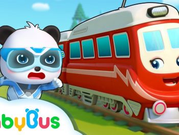Super Panda and Super Train | Thomas Train | Nursery Rhymes | Kids Songs | BabyBus