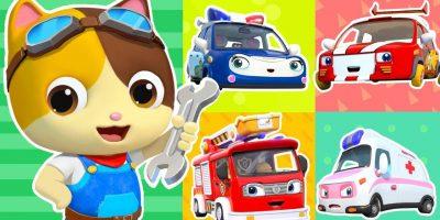 Five Little Cars Got Hurt | Doctor Cartoon, Fire Truck | Kids Songs | Kids Cartoon | BabyBus