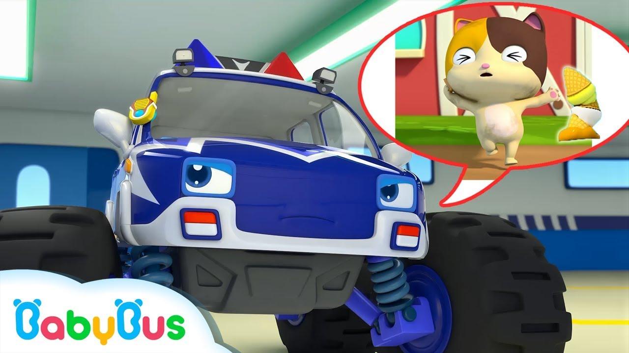 Super Monster Police Car | Baby Kitten's Ice Cream | Super Rescue Team | Monster Fire Truck |BabyBus