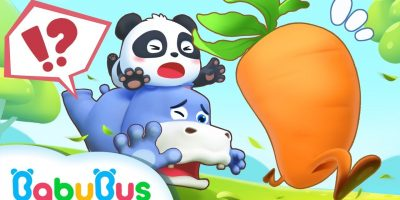Baby Panda Chases after Running Carrot   Baby Panda's Magic Bow Tie   BabyBus Cartoon