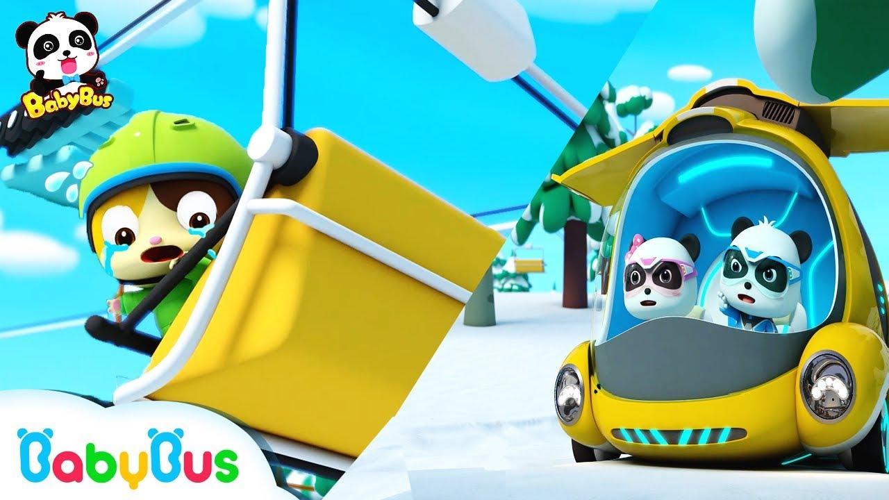 Baby Kitten is Trapped In The Snow | Super Panda Rescue Team | Kids Song | BabyBus Cartoon