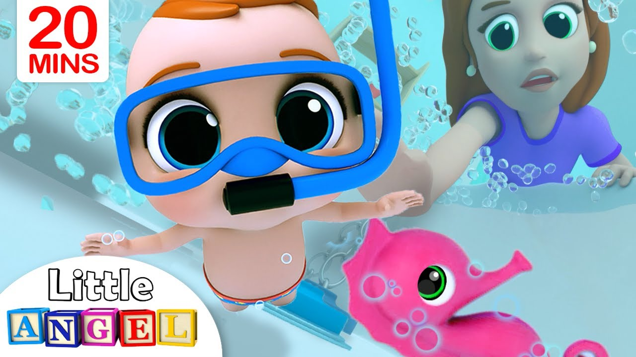 Bath Song | Baby's Bath Time | Little Angel Nursery Rhymes & Kids Songs