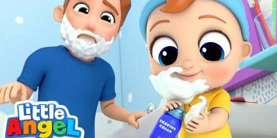 I Wanna Be Like Daddy | Little Angel Nursery Rhymes & Kids Songs
