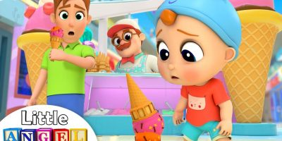 Ice Cream And Candy At The Mall | Little Angel Nursery Rhymes & Kids Songs