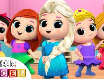 Five Little Princesses | Nursery Rhymes & Kids Songs – Little Angel