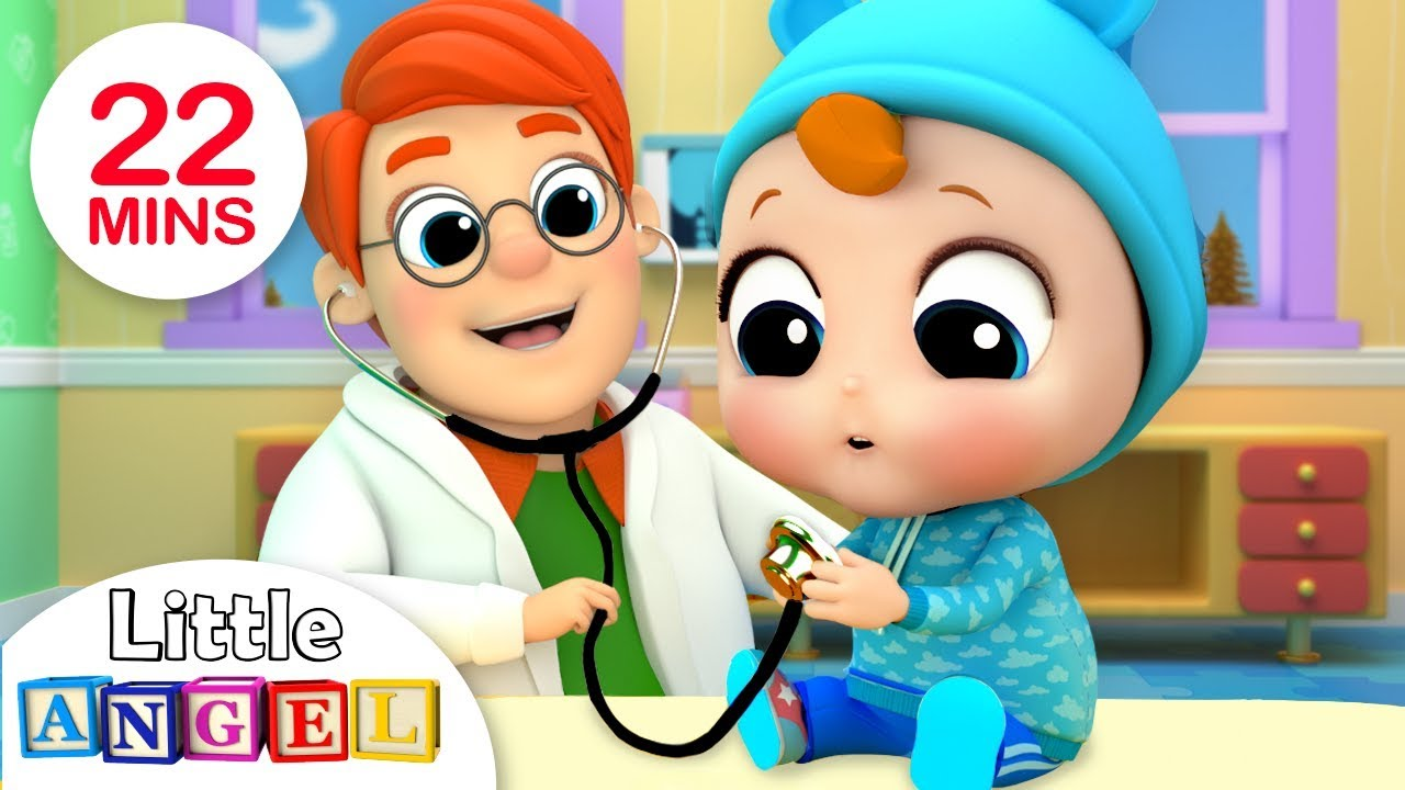 Baby's Visit To The Doctor | Little Angel Kids Songs & Nursery Rhymes