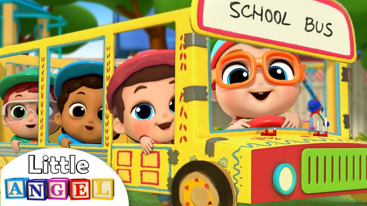 Wheels on the Bus at School | Learning Arts and Crafts | Kids Songs and Nursery Rhymes Little Angel