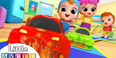 Toy Car Race Song | Nursery Rhymes & Kids Songs – Little Angel