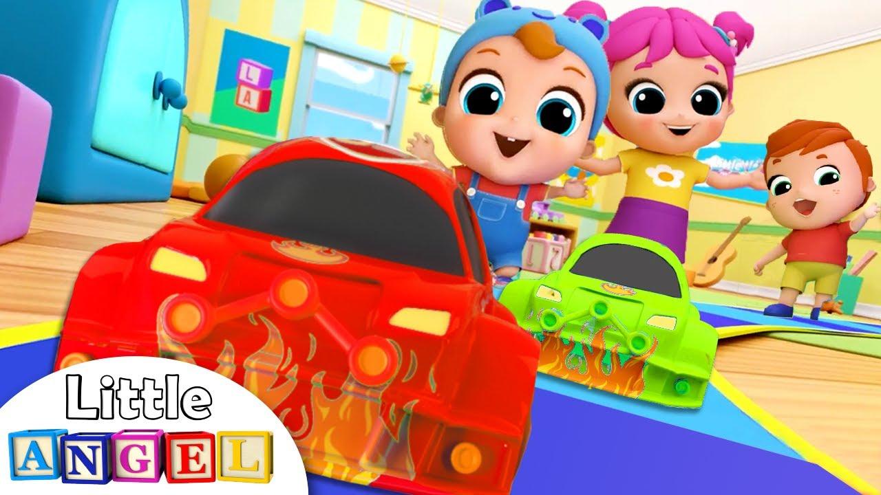 Toy Car Race Song | Nursery Rhymes & Kids Songs – Little Angel