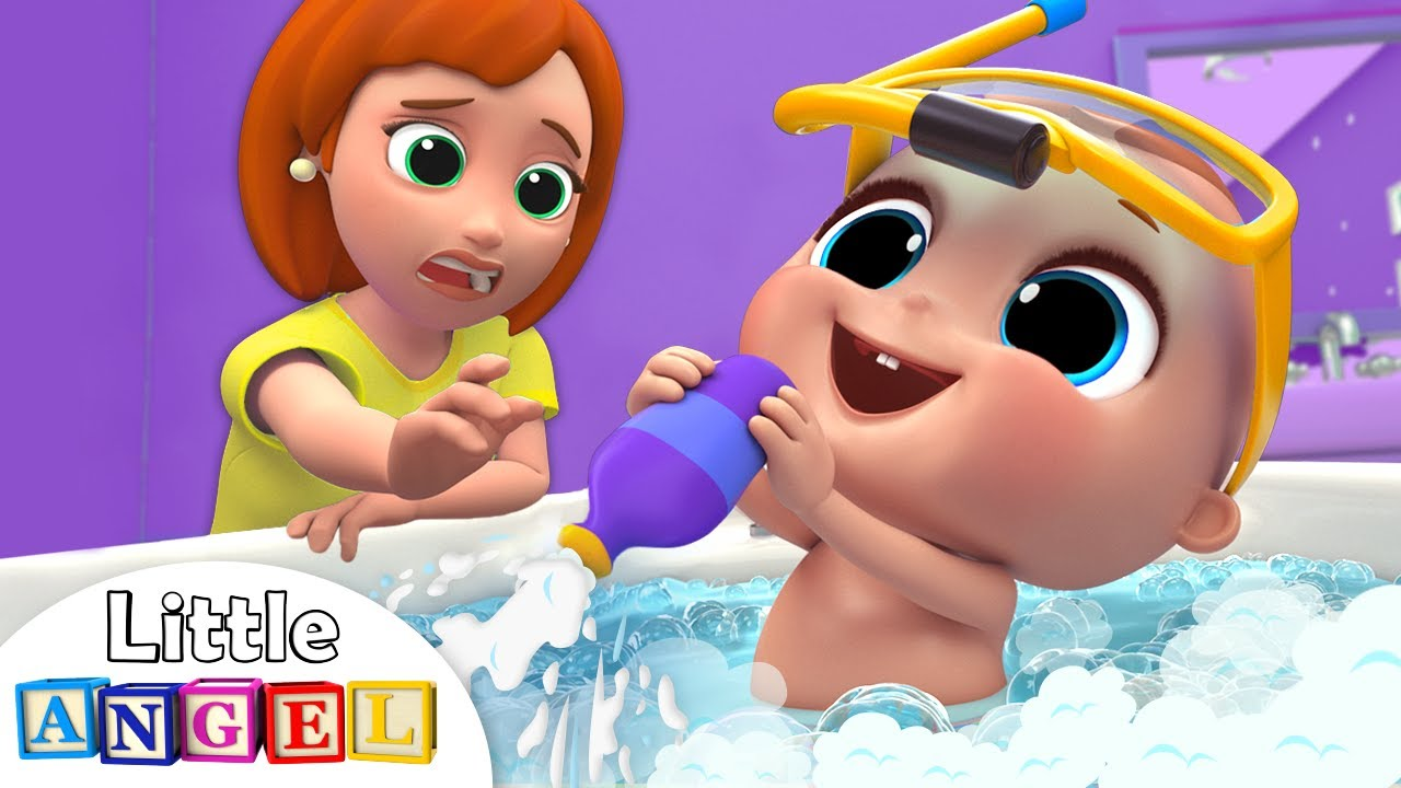 Baby Bath Time Song | Kids Songs and Nursery Rhymes by Little Angel