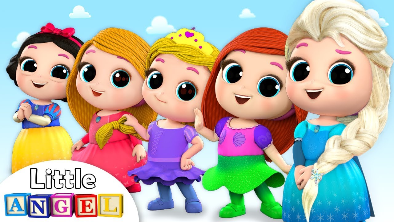 5 Little Princesses +More Princess Songs   Nursery Rhymes by Little Angel
