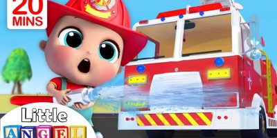 Fire Truck Song | Firefighter to the Rescue | Nursery Rhymes – Little Angel