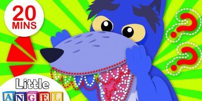 Where are My Wolf Teeth? Yum Yum Vegetables, Wheels on the Bus | Nursery Rhymes by Little Angel