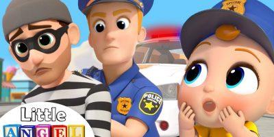 Policeman Keeps Everyone Safe | Little Angel Kids Songs & Nursery Rhymes