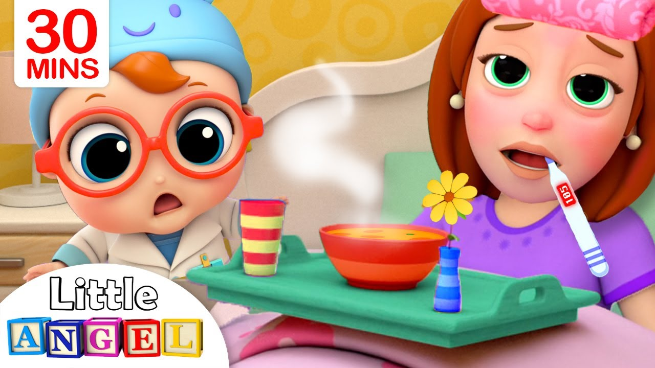 Mommy Got Sick | Sick Song | Little Angel Kids Songs & Nursery Rhymes