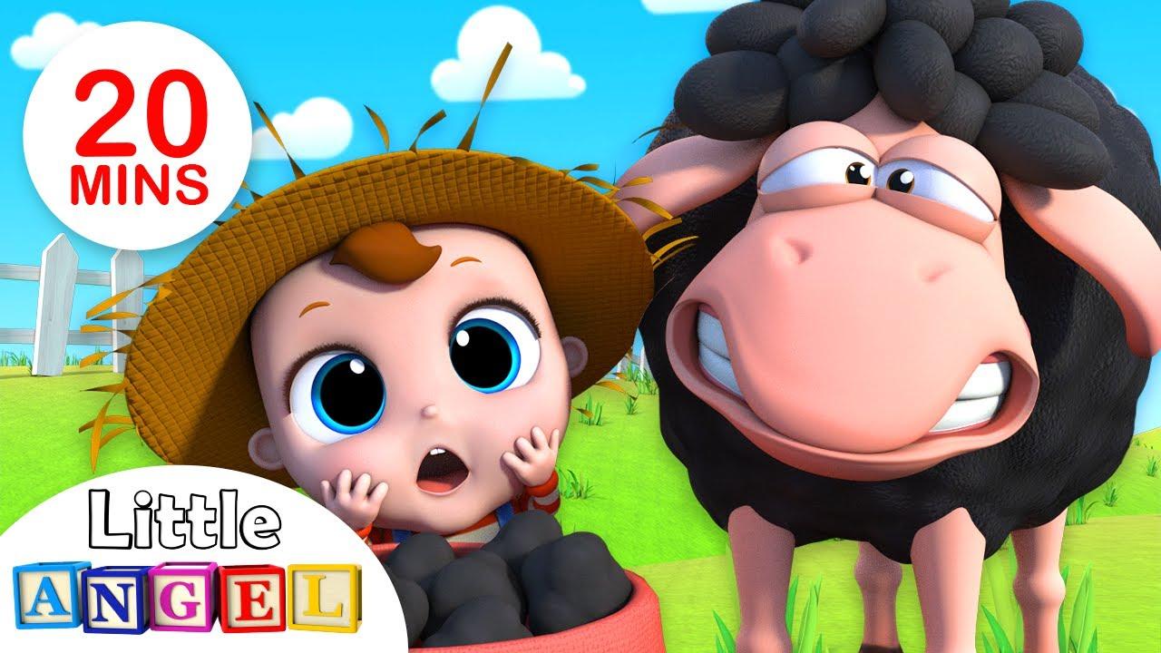 Baa Baa Black Sheep | +More Nursery Rhymes & Kids Songs by Little Angel