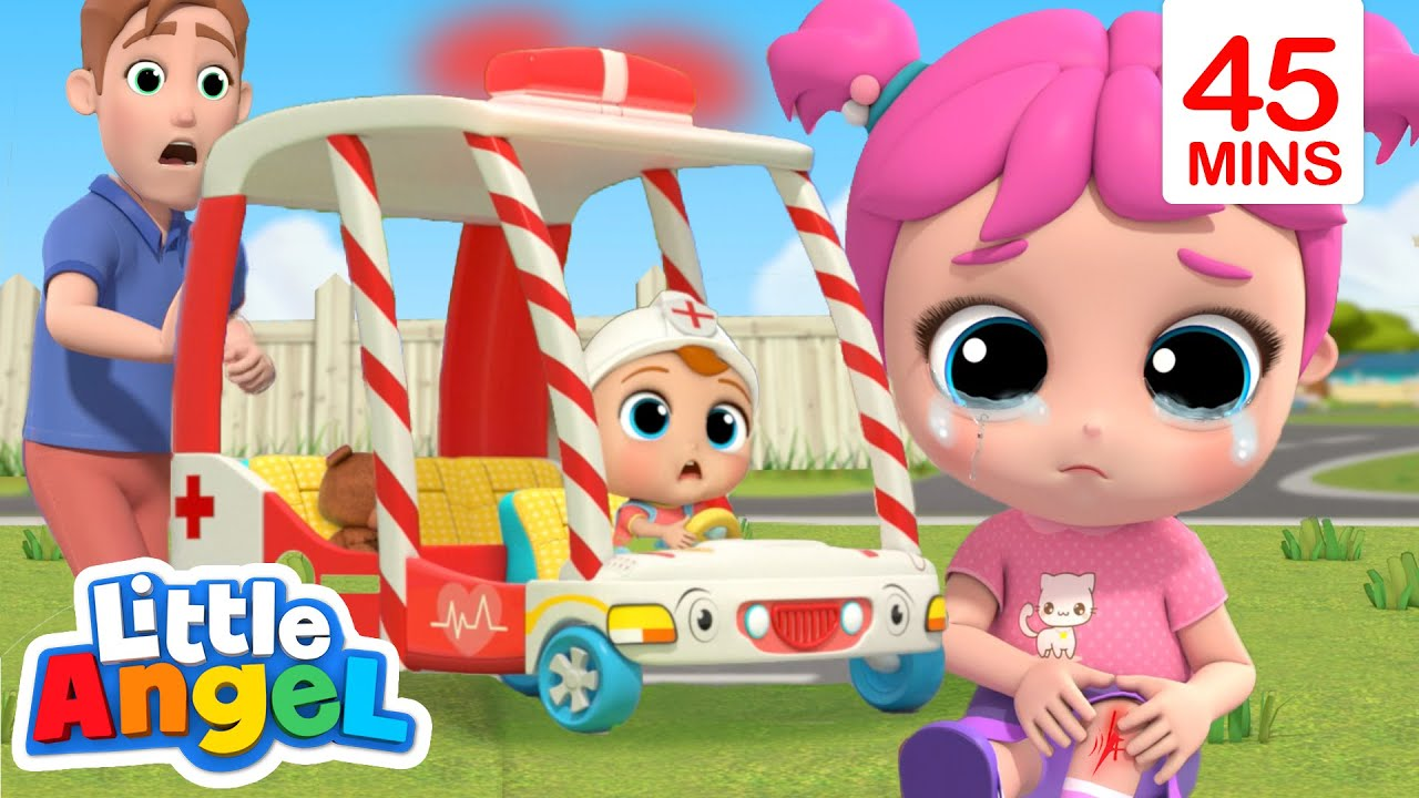 Baby John To The Rescue   Wheels On The Ambulance & More Little Angel Kids Songs
