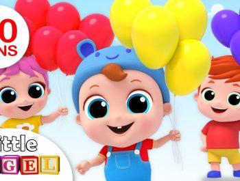 The Balloon Song | Nursery Rhymes & Kids Songs – Little Angel