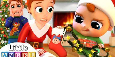 Deck The Halls | Christmas Song | Little Angel Nursery Rhymes & Kids Songs