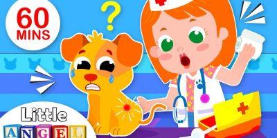 Baby Goes to the Vet | 5 Little Puppies Peekaboo | Nursery Rhymes & Kids Songs by Little Angel