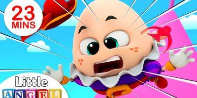 Humpty Dumpty Sat on a Wall, Finger Family Peekaboo, Itsy Bitsy & more Kids Songs by Little Angel