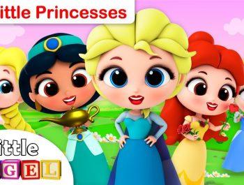 5 Little Princesses | Elsa, Anna, Rapunzel, Jasmine, Cinderella | Fun Kids Songs by Little Angel