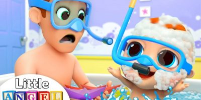 Bath Time with Dad | Nursery Rhymes and Kids Songs by Little Angel