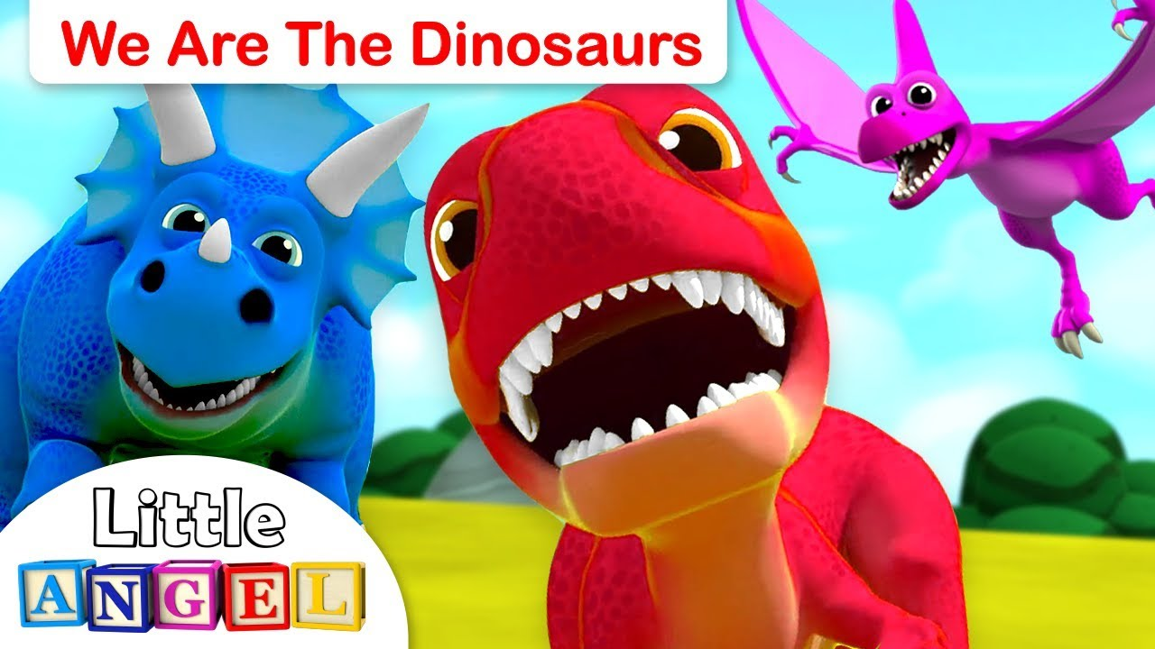 We are the Dinosaurs   Baby T-Rex, 10 Little Dinosaurs   Dinosaur Song by Little Angel