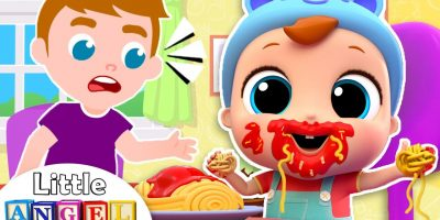 Yes Yes, I can Eat by Myself! | Good Manners Song | Little Angel Nursery Rhymes