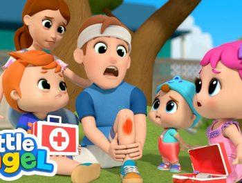Daddy Got a Boo Boo | Little Angel Kids Songs & Nursery Rhymes