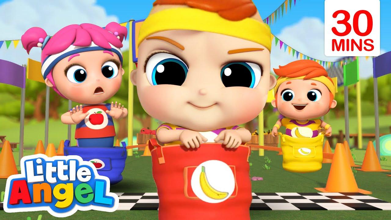 Come on Let's Race, Race, Race! + More Nursery Rhymes   Little Angel Kids Songs