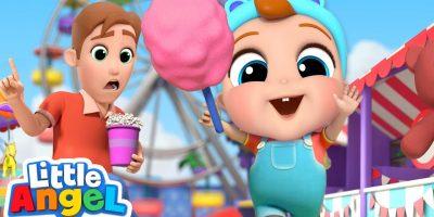 Playtime at the Theme Park | Little Angel Nursery Rhymes & Kids Songs
