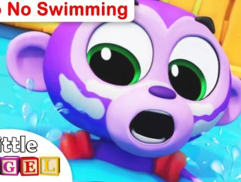 No No Swimming, Safety Tips with Milo the Monkey | Kids Songs and Nursery Rhymes by Little Angel