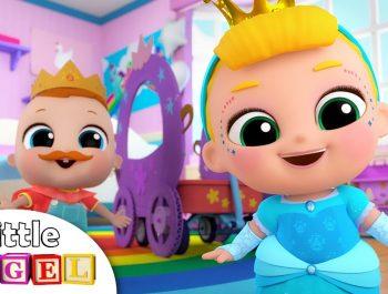 Baby Girl Dresses Up As Princess | Princess Song | Nursery Rhymes by Little Angel