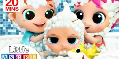 Baby Bath Time with Brother and Sister | Nursery Rhymes & Kids Songs Little Angel