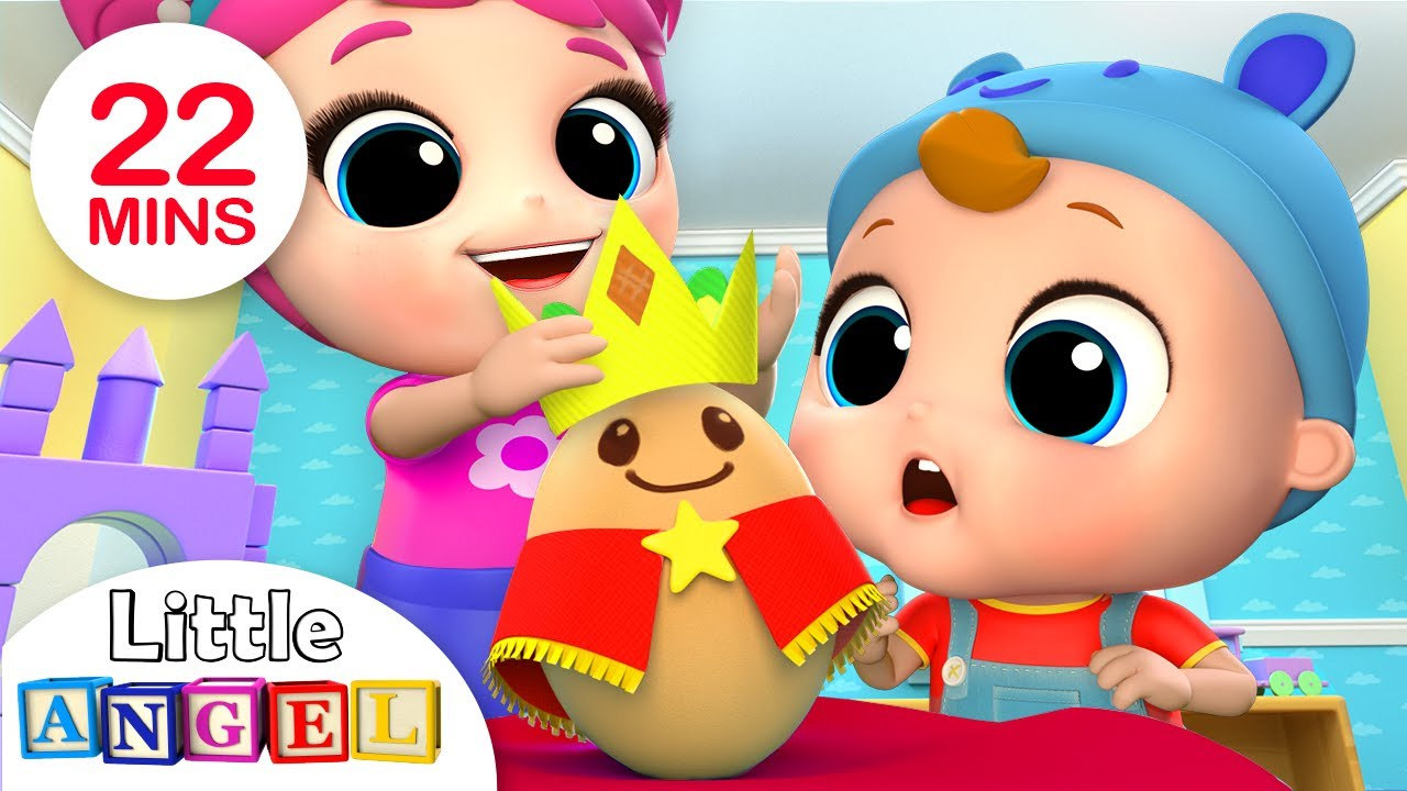 Humpty Dumpty Wears the Crown | Nursery Rhymes by Little Angel