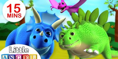 We are the Dinosaurs | Dinosaur Song | Kids Songs & Nursery Rhymes by Little Angel