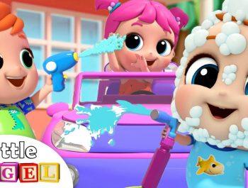 Car Wash Song with Baby John   Little Angel Kids Songs & Nursery Rhymes