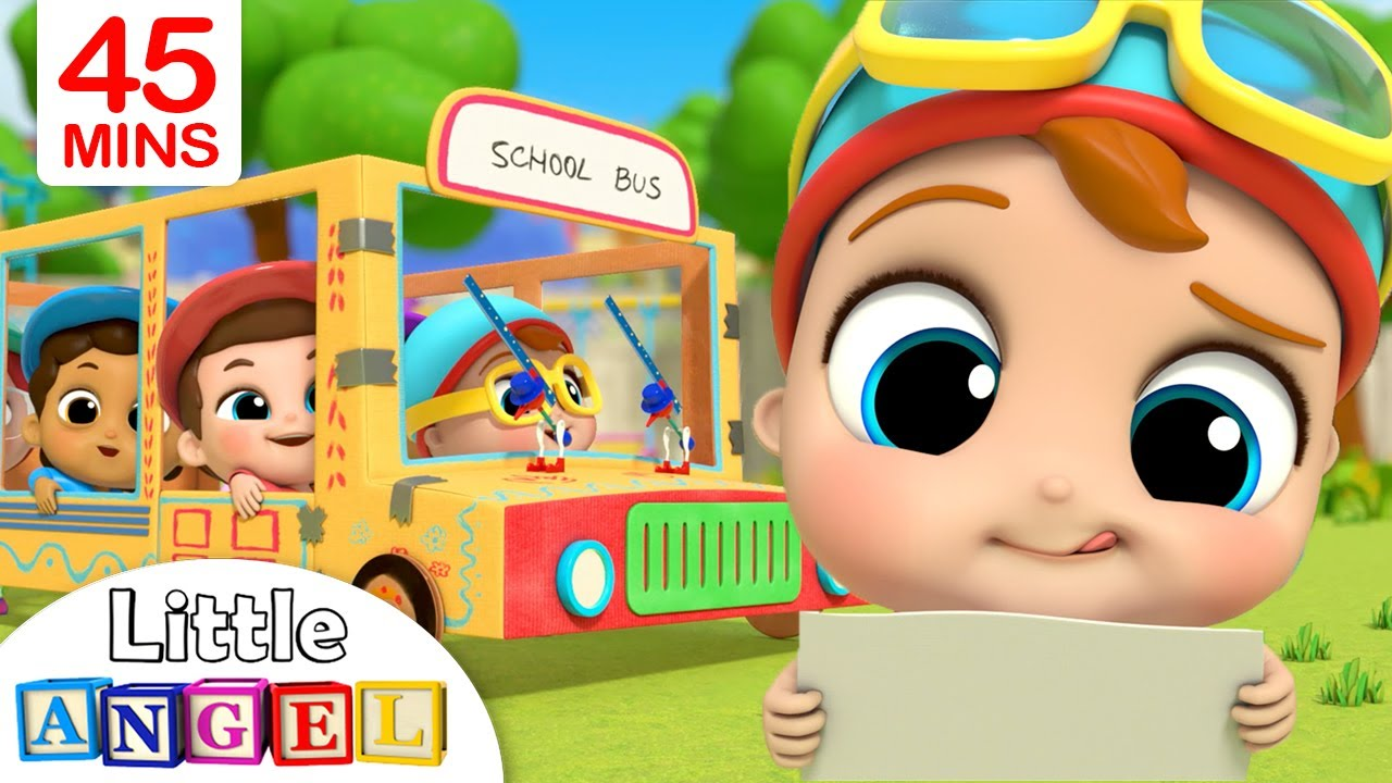 Wheels On The Bus + More | Little Angel Kids Songs & Nursery Rhymes