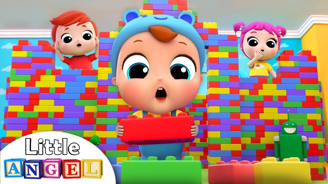 Playtime with Building Blocks   Little Angel Nursery Rhymes and Kids Songs